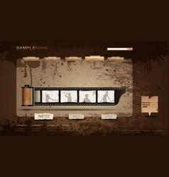 vintage portfolio website vector image vector image