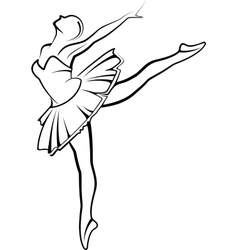 with a ballet dancer vector image vector image