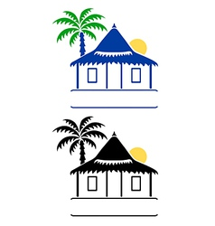 bungalow sign vector image vector image