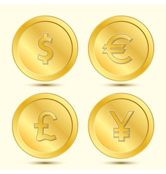 Golden Coins Set vector image