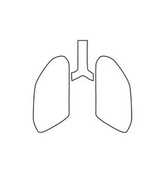 Human lungs icon outline style vector image vector image