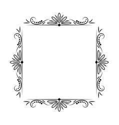 modern stylish vintage black frame vector image