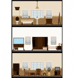 vintage living room vector image vector image
