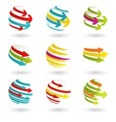 Color arrows vector image