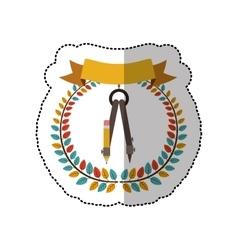 Compass school utensil vector image