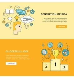 Generation Successful Idea Banners vector image vector image