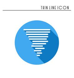 hurricane line simple icon weather symbols vector image