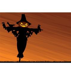 scarecrow background vector image