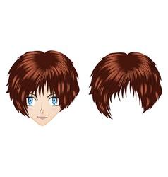 Anime brunette girl vector image vector image