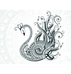 Beautiful abstract swan vector image