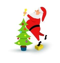 Christmas smiling Santa Claus character Cartoon vector image vector image