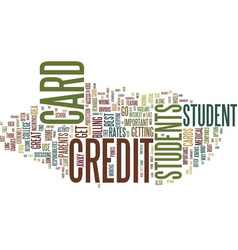 Find your best student credit cards text vector