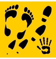 Footprints set - vinyl-ready vector image vector image