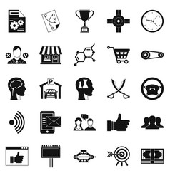 general director icons set simple style vector image vector image