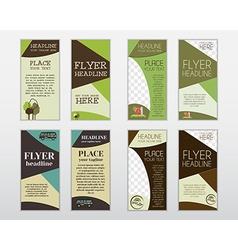 Set of flyer layout templates Organic farm fresh vector image vector image