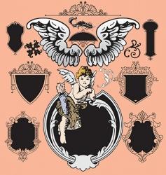 Victorian elements vector vector image