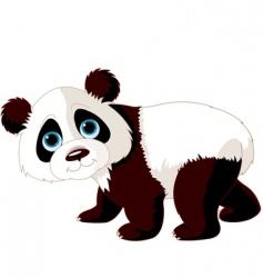 walking panda vector image vector image