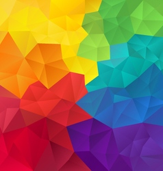 abstract irregular polygon background with vector image vector image