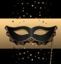 black mask with lace vector image