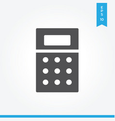 calculator icon simple sign for web site and vector image