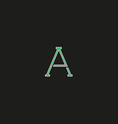 capital a logo letter thin line modern hipster vector image