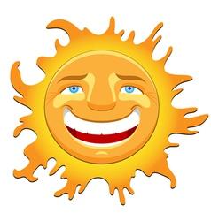cheerful sun vector image