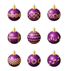 Christmas decoration balls vector image