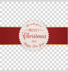 circle merry christmas decorative label with text vector image