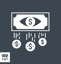 Cost per impression glyph icon vector