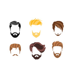 different male hairstyles types haircuts vector image
