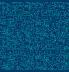 Digital marketing line seamless pattern vector