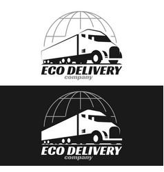 eco truck logo vector image