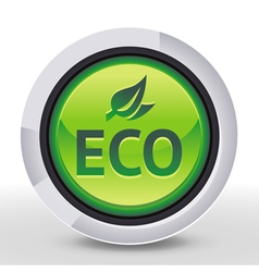 ecology icon - eco sign and text on round b vector image