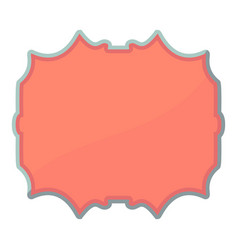 Empty label icon cartoon style vector