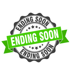 Ending soon stamp sign seal vector