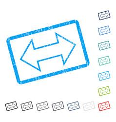 Exchange horizontal icon rubber watermark vector