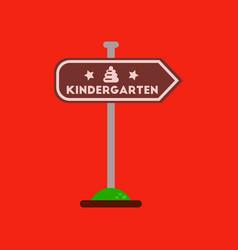 Flat icon on background sign kindergarten vector