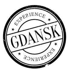 Gdansk stamp rubber grunge vector