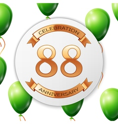 Golden number eighty eight years anniversary vector