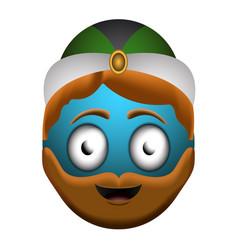 happy wise man emoji vector image