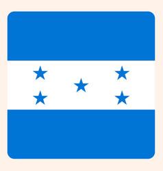 honduras square flag button social media vector image