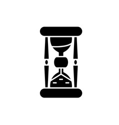 hourglass black icon sign on isolated vector image