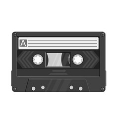 Isolated object cassette and tape symbol vector