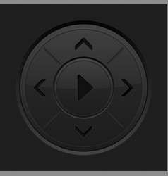 joystick black button vector image
