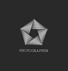 logo photographer or photo studio black vector image