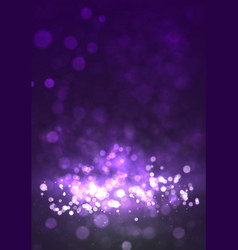 magic violet background with bokeh and stars vector image