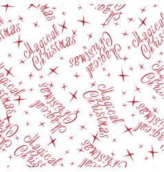 magical christmas seamless 1 01 vector image