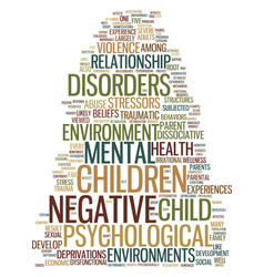 mental health in negative environments text vector image