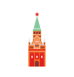 moscow kremlin flat fortified vector image