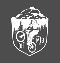 mountain bike badges vector image